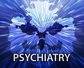 Psychiatry inkblot background