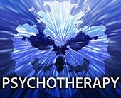 Psychotherapy inkblot background