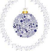 Christmas decoration white blues