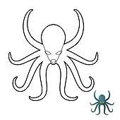 Royalty Free Kraken Clip Art - GoGraph