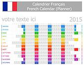 2015 French Planner Calendar with H