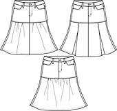 Skirts Clip Art - Royalty Free - GoGraph