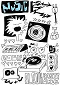 Doodle music background