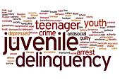 Juvenile delinquency word cloud