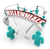 Millennials People Connected Arrows Young Youth Generation