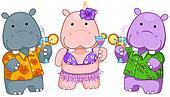 Hawaiian Hippos