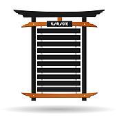 Karate Belt Rack