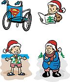 Boy scouts with wheelchair