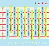 Fresh calendar for 2010