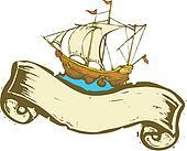 Pirate Ship Banner