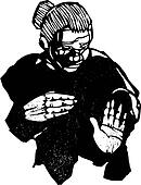 Old Woman with Hands