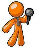 Orange Man Giving Speech