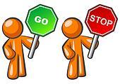 Orange Man Stop and Go