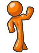 Orange Man Flexing Muscle