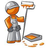 Orange Man Painter