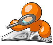 Orange Man Browsing Want Ads