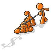 Orange Man Tracking Money