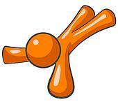 Orange Man Tripped