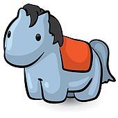 Cute Little Blue Horse