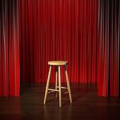 stool on a stage