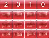 Red rounded calendar