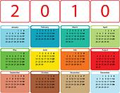 Colorful rounded calendar