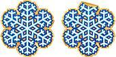 Snowflake sticker vector