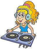 Cartoon DJ girl