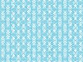 White pattern on a blue background
