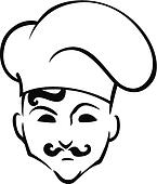 French chef in toque hat
