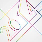 New Year 2014 abstract background