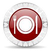 restaurant valentines day icon