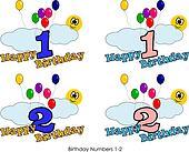 Birthday numbers 1-2