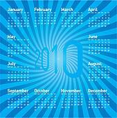 Blue Calendar 2010
