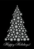 Black&White Christmas tree