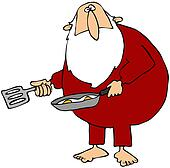 Santa Making Eggs