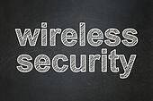 Privacy concept: Wireless Security on chalkboard background