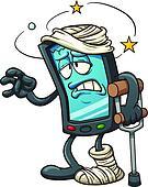 Broken smartphone