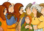 man, horror, medieval, brown, woman
