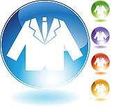 Jacket Tie Crystal Icon