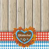 Oktoberfest Gingerbread Heart Foliage Cloth