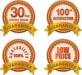 guarantee badge brown