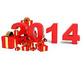 Happy new year 2014 and gifts.
