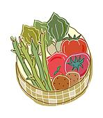 Vegetables in a basket