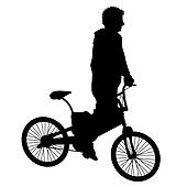 Bicycle rider 1 vector