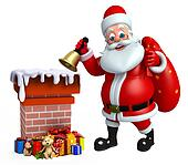 Santa claus with chimney