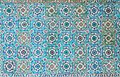 Oriental mosaic detail in Topkapi Palace, Istanbul, Turkey.