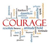 Courage Word Cloud Concept
