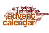 Advent calendar word cloud