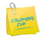 columbus day memo post illustration design